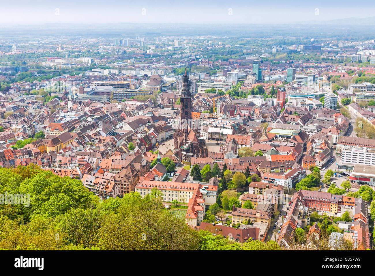 aerial view of freiburg im breisgau city germany freiburg munster stock photo royalty free. Black Bedroom Furniture Sets. Home Design Ideas