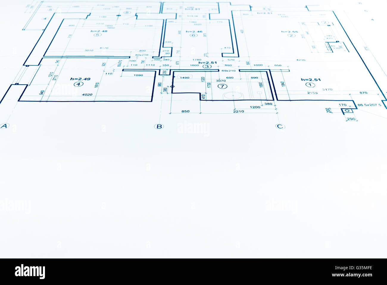 Architectural project technical drawing construction plan architectural project technical drawing construction plan blueprint malvernweather Gallery