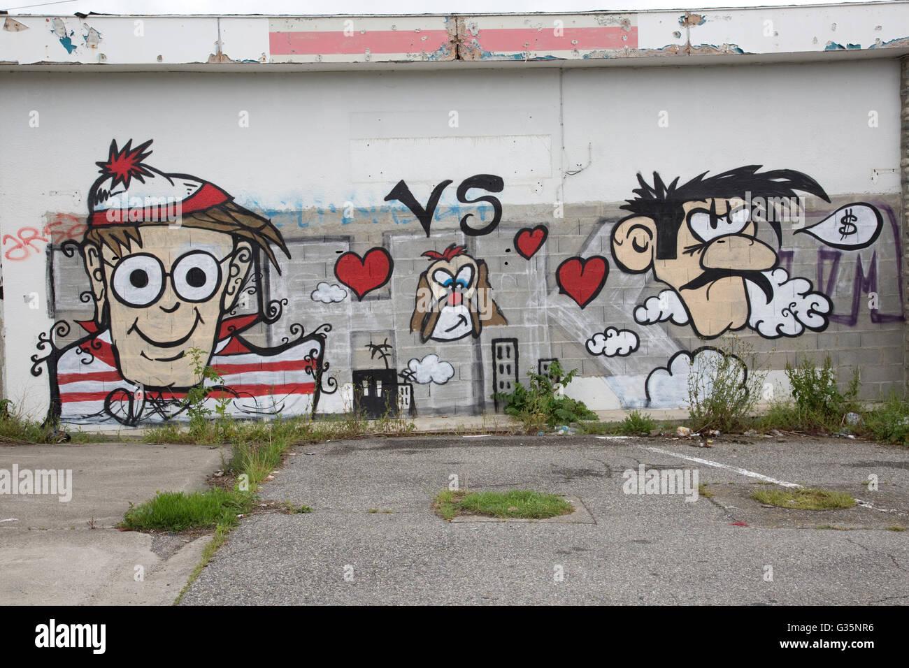 graffiti art crime wall garage building france stock photo graffiti art crime wall garage building france