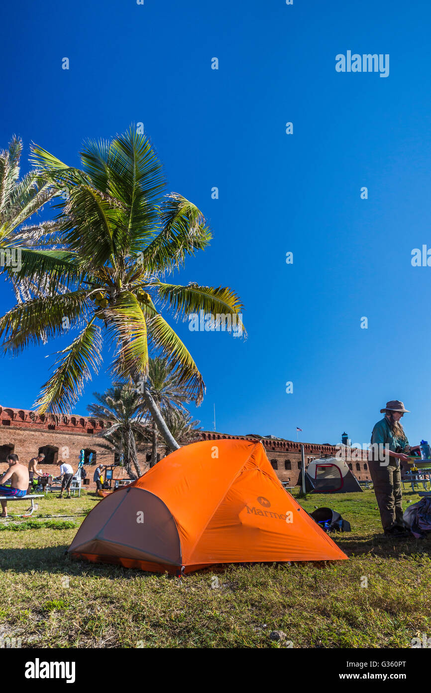 Campsite Outside Fort Jefferson On Garden Key In Dry Tortugas Stock Photo Royalty Free Image