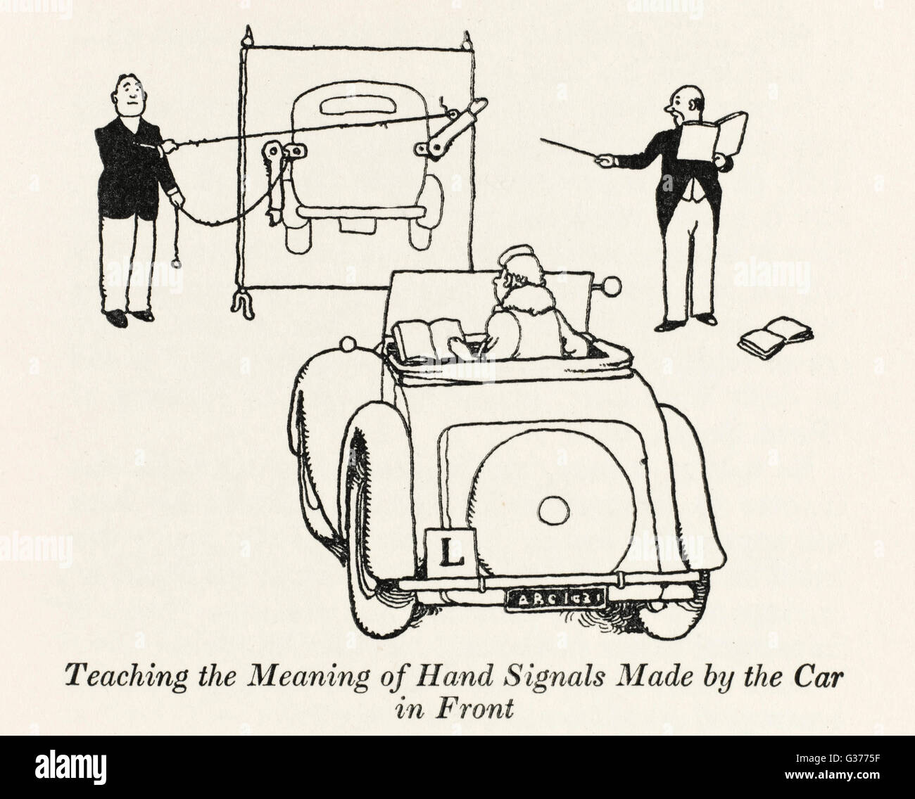 Teaching The Meaning Of Hand Signals Made By The Car In Front - Car signals