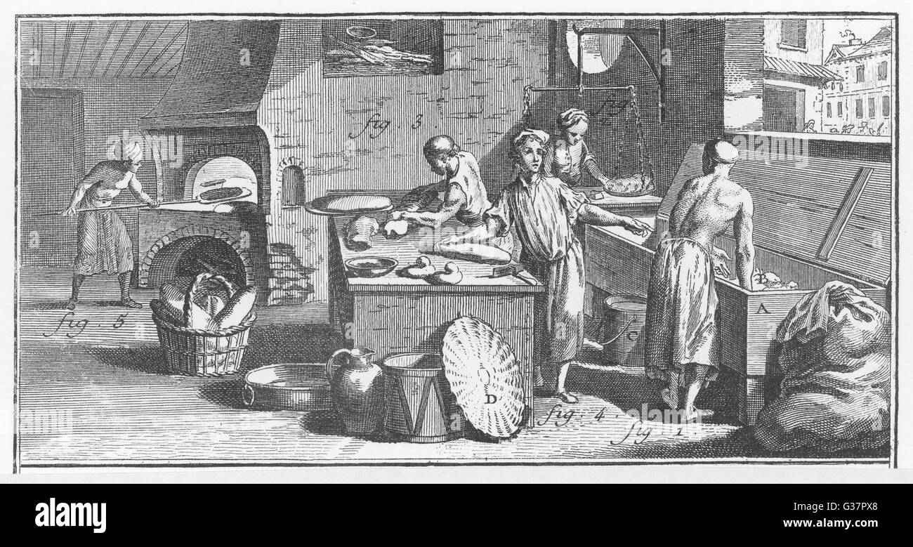An 18th century french bakery date circa 1760 stock photo for 18th century french cuisine