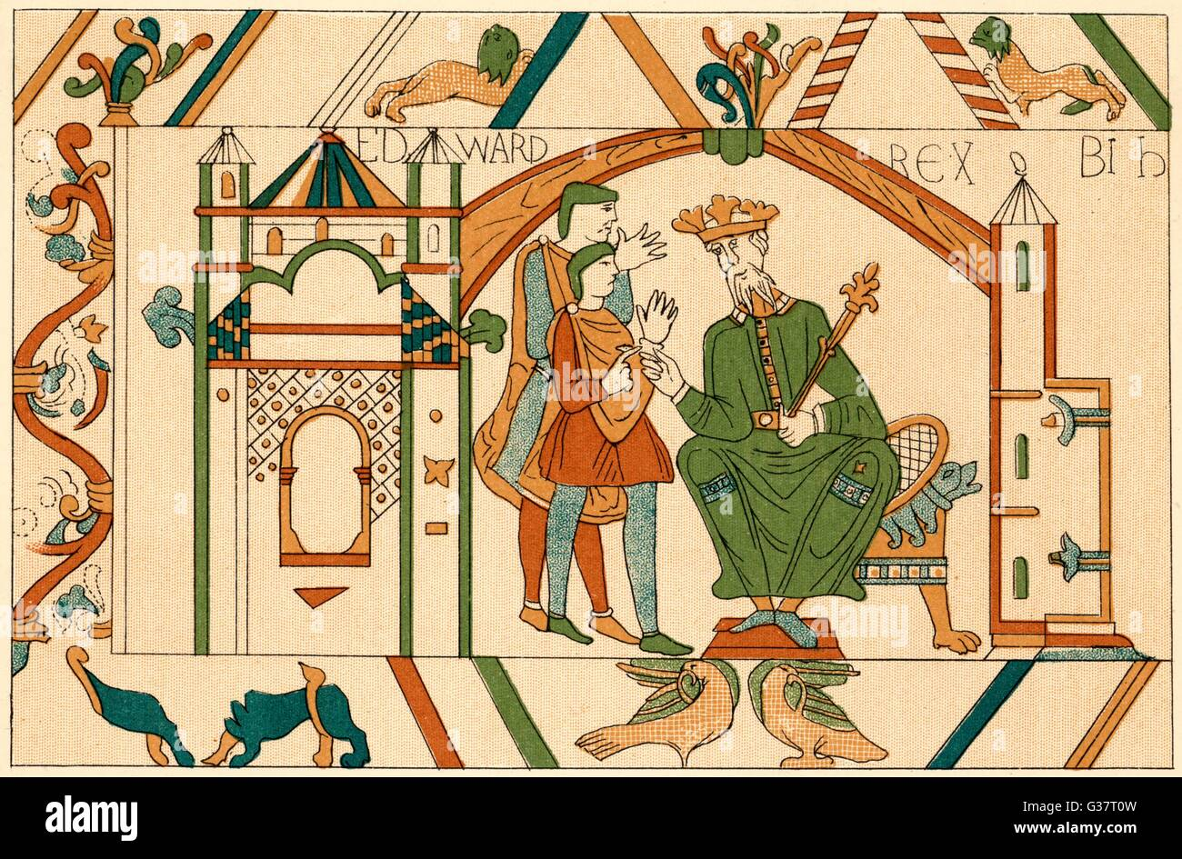 king edward the confessor sends harold earl of wessex to confirm  king edward the confessor sends harold earl of wessex to confirm to william duke of normandy that he will succeed him on the english throne date circa