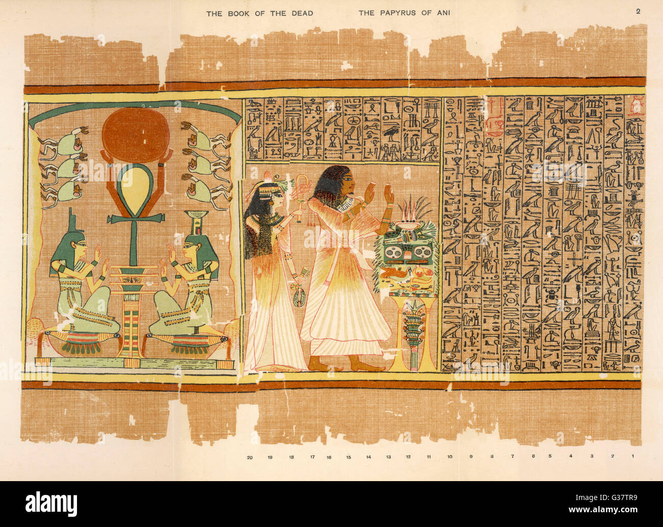 INVOCATION TO OSIRIS Ani and his wife make offerings; Isis ...