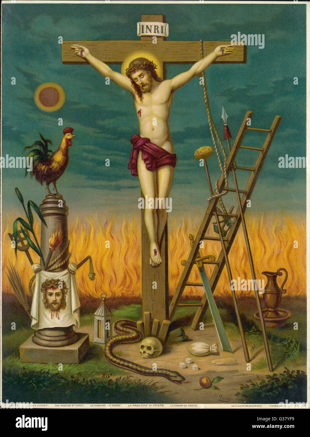 Allegory of jesus crucified surrounded by relics and other allegory of jesus crucified surrounded by relics and other symbolic attributes buycottarizona