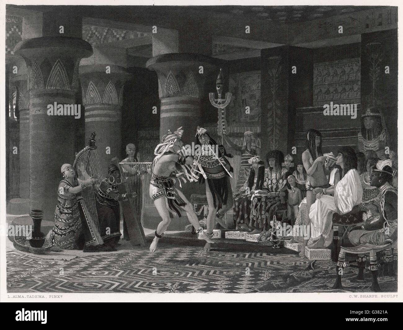 a musical entertainment in ancient egypt stock photo, royalty free, Powerpoint templates