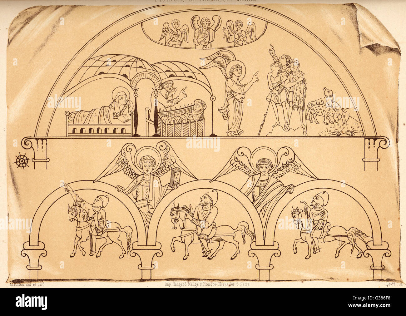 Medieval representation of the announcement of the birth of Jesus – Jesus Birth Announcement