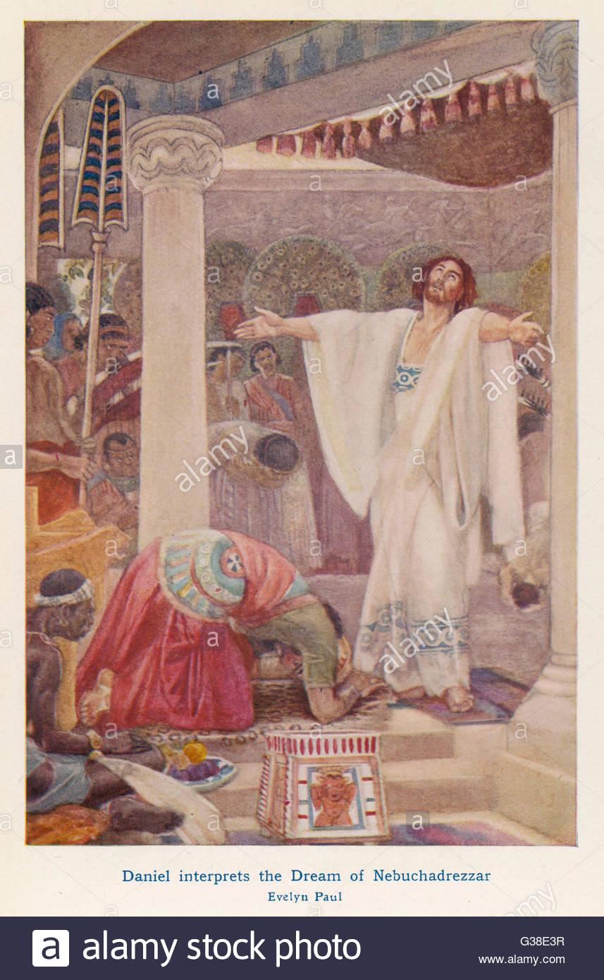 daniel interprets the dream of nebuchadnezzar i king of babylon