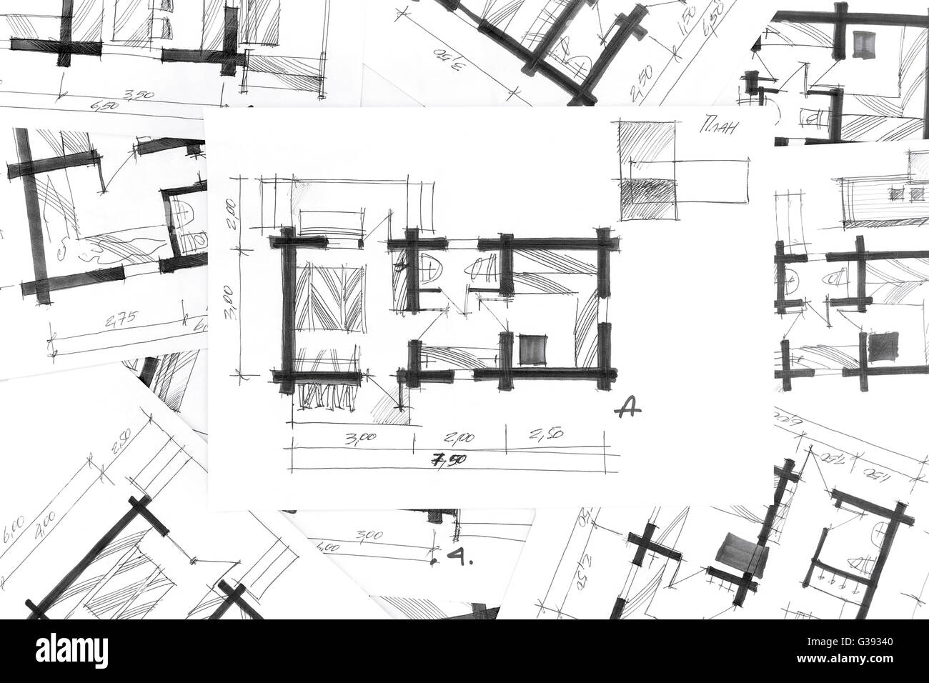 Sketch drawings for new home renovation architectural for Renovation drawings