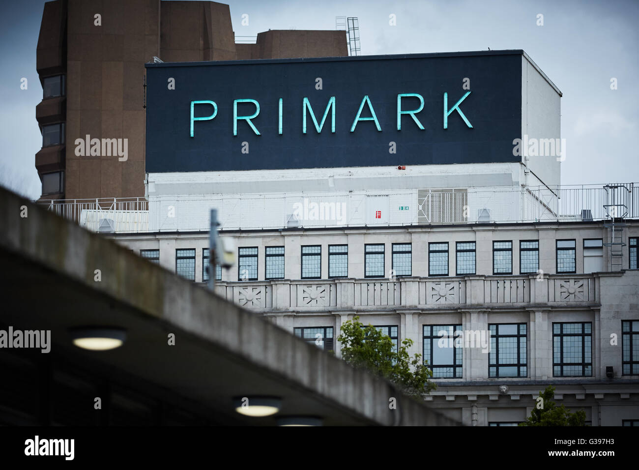 primark building sign in piccadilly manchester the grand white stone exterior built in 1877 as lewis s department store has be