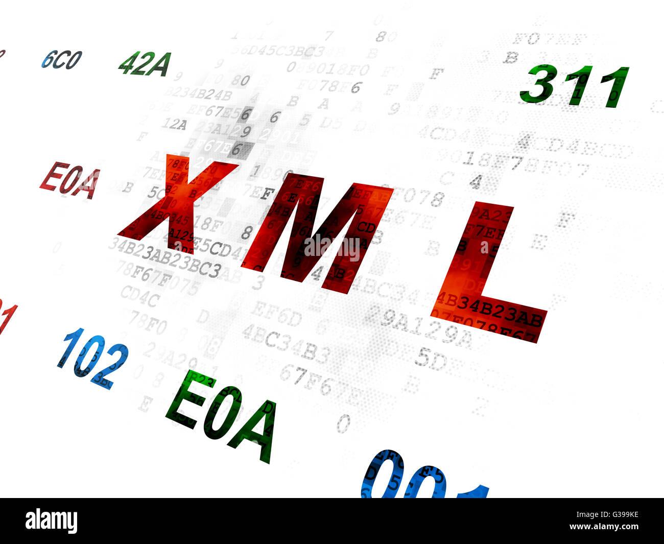 Background image xml - Software Concept Xml On Digital Background