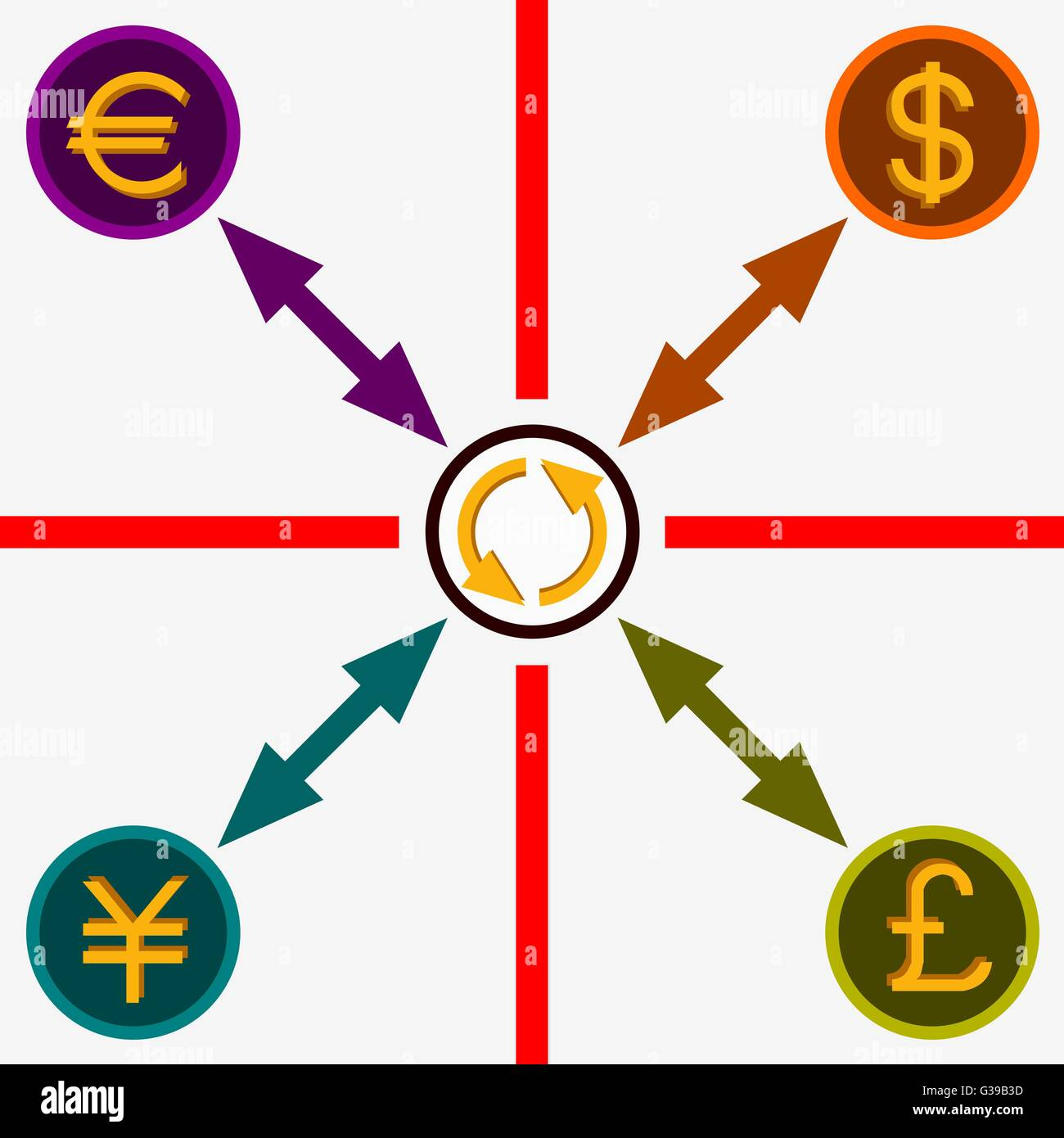 Illustration of currency conversion dollar euro yen and british illustration of currency conversion dollar euro yen and british pound buycottarizona Choice Image