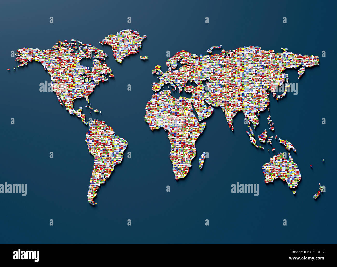 Symbol of geopolitics the world map made out of country flags symbol of geopolitics the world map made out of country flags gumiabroncs Gallery
