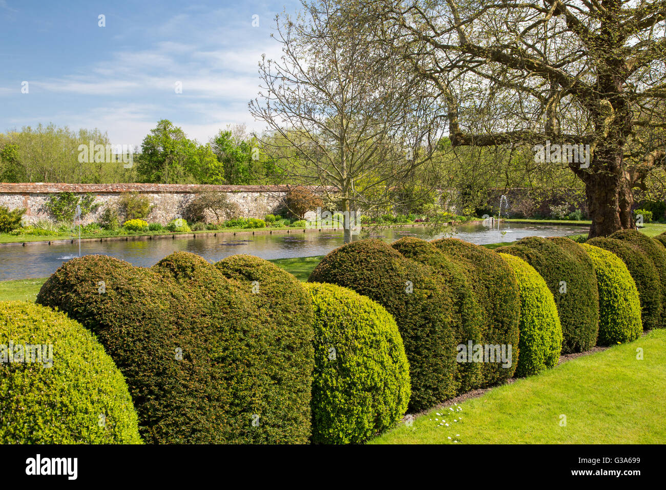 Landscaped Gardens At St Cross Hospital And Almshouse Of Noble Poverty In  Winchester, England