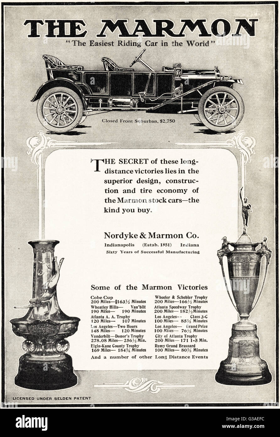 Original old vintage American magazine advert from the Edwardian era ...