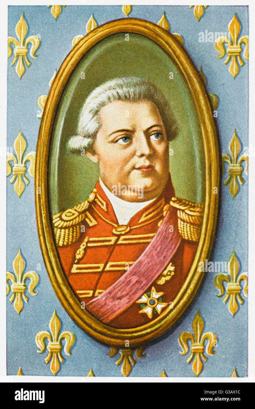 LOUIS XVIII Titular King of France 1795-1814, King from ...