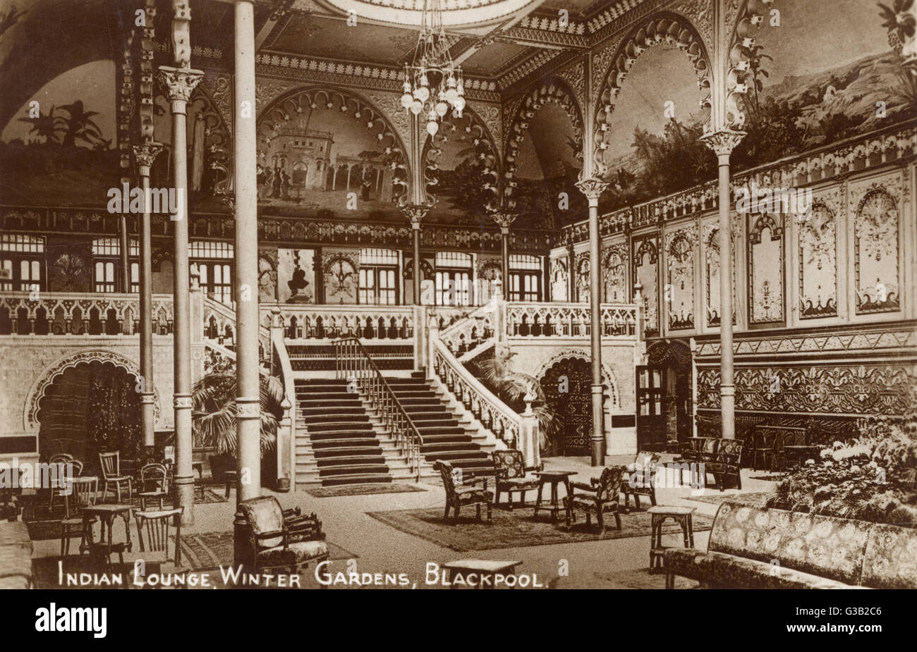 blackpool lancashire indian lounge winter gardens date stock