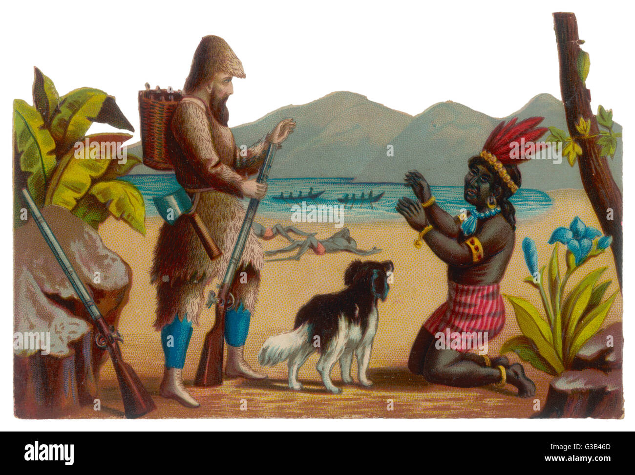 Robinson Crusoe Man Friday Stock Photos  Robinson Crusoe Man