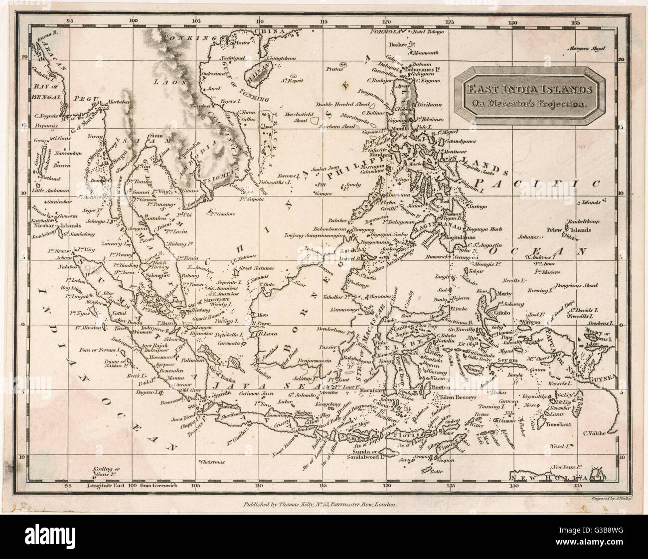 Map of the East India Islands including the Philippines the