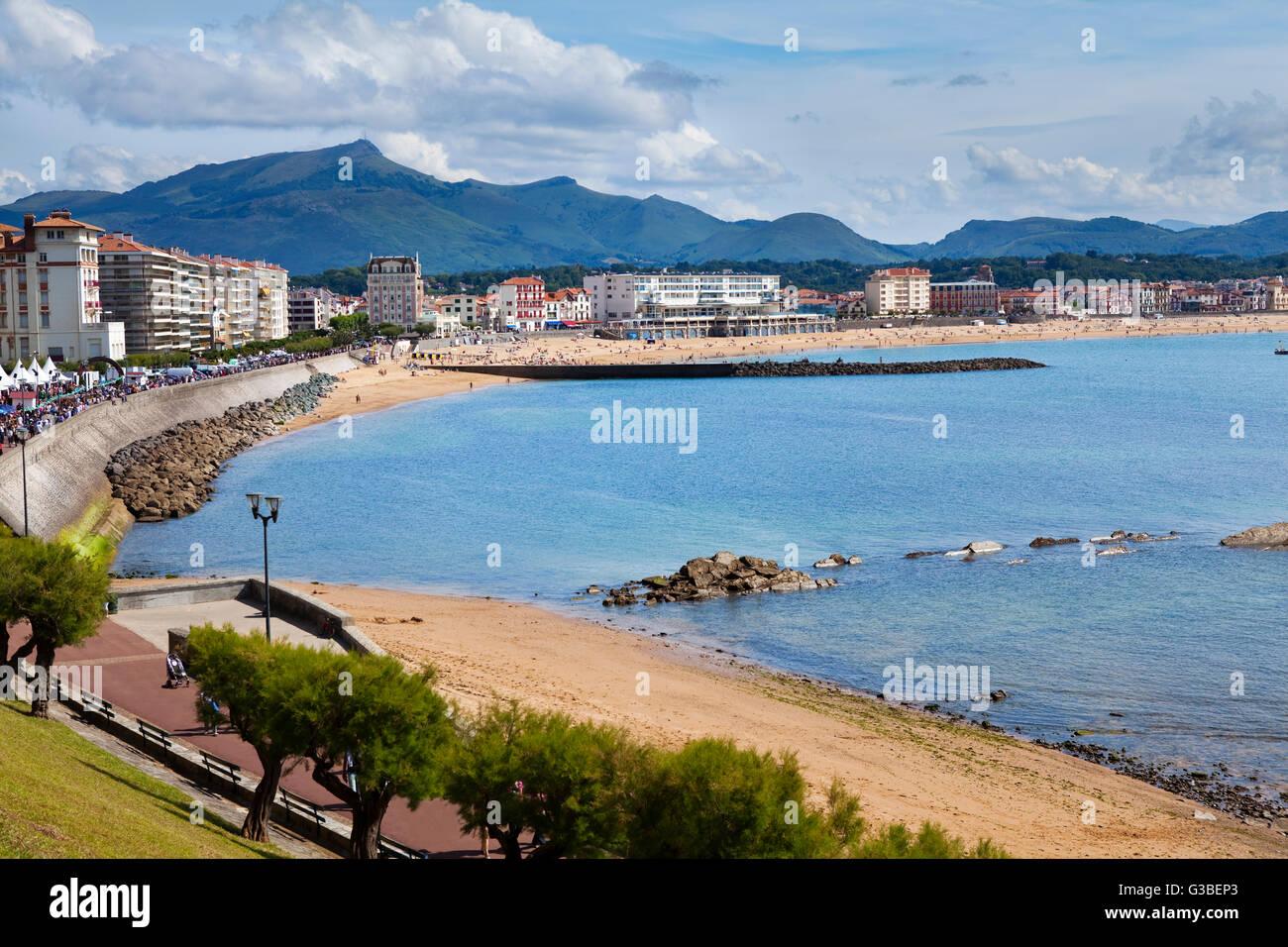 saint jean de luz beach in pays basque france stock photo royalty free image 105359243 alamy. Black Bedroom Furniture Sets. Home Design Ideas