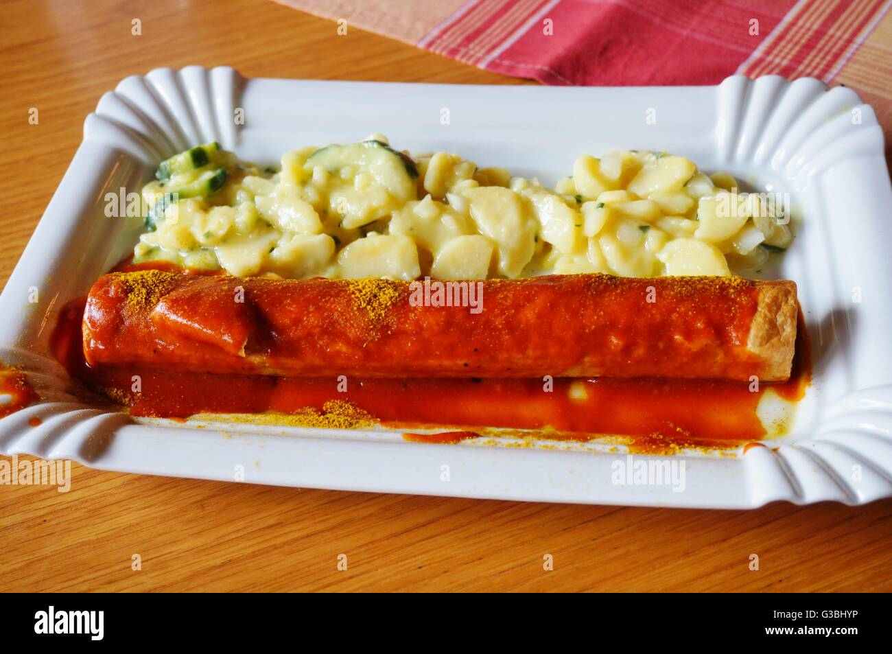 a curry wurst sausage in berlin stock photo royalty free. Black Bedroom Furniture Sets. Home Design Ideas