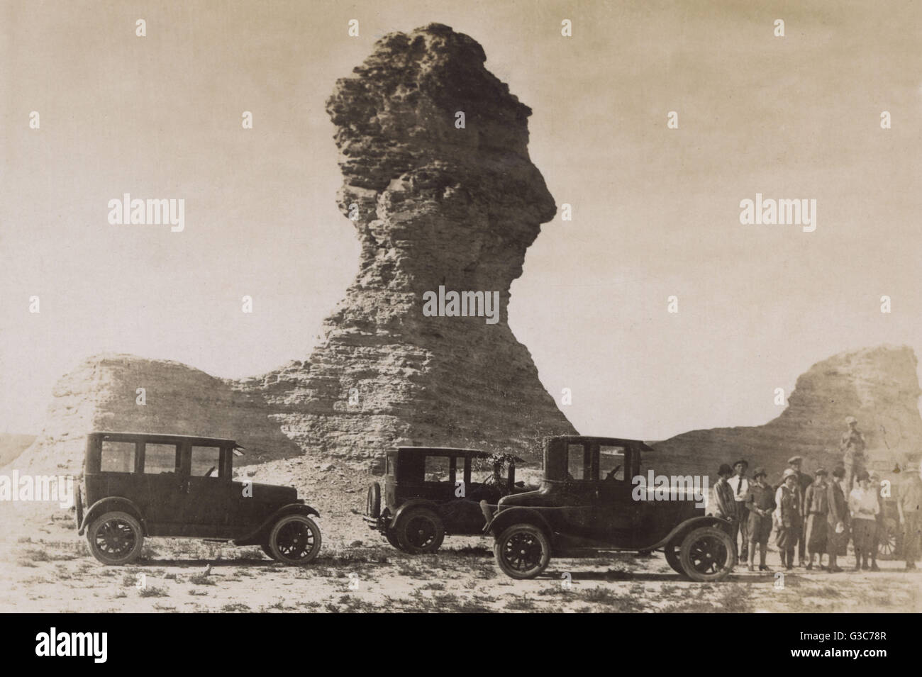 Kansas gove county grinnell - Monument Rocks At Smoky Hill Gove County Kansas Usa Showing One Named