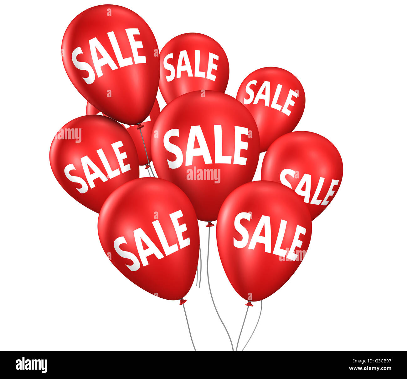 Shopping sales discount and promo with sale sign and text on red ...
