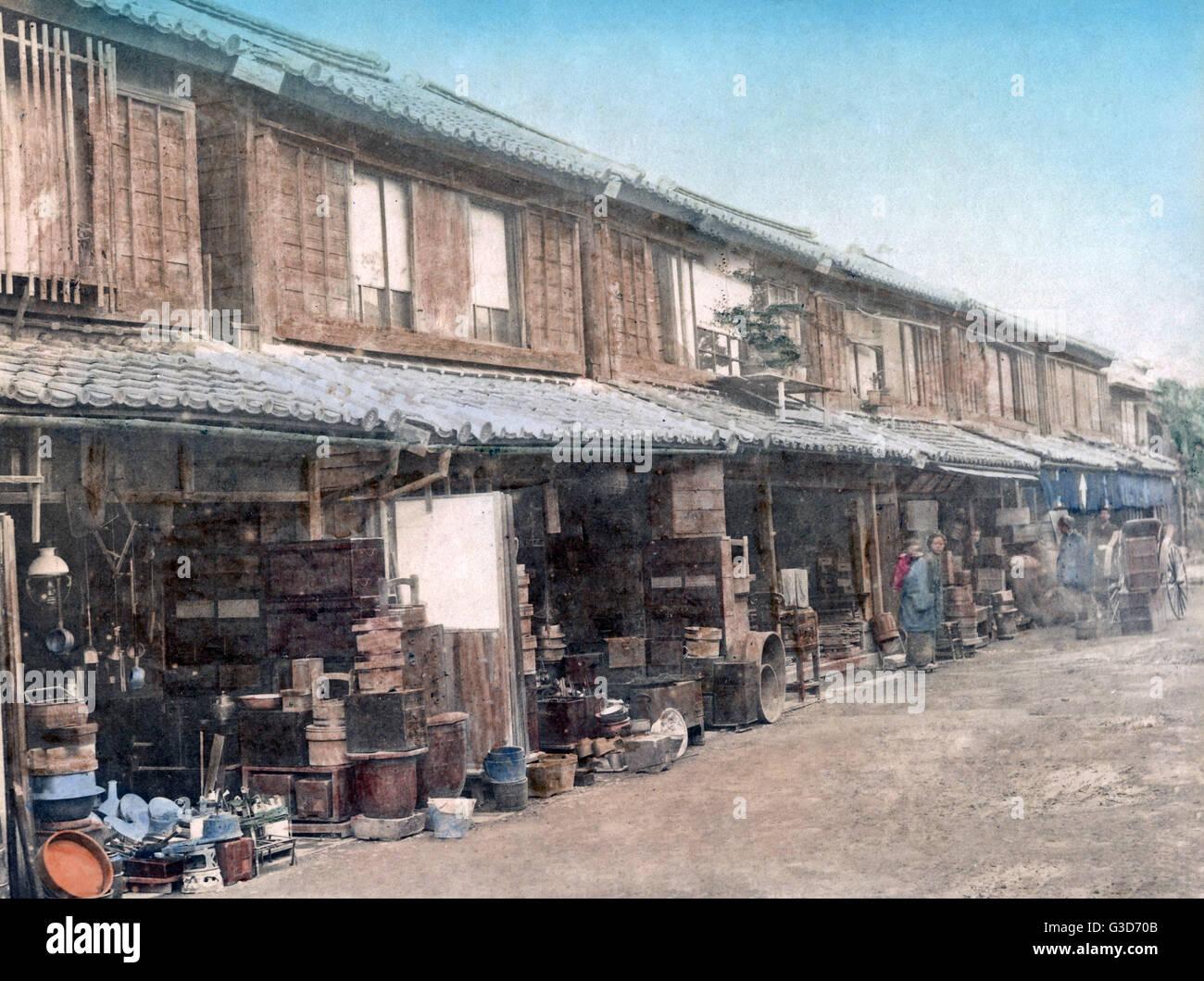 second hand furniture shops japan circa 1880s date circa 1880s stock