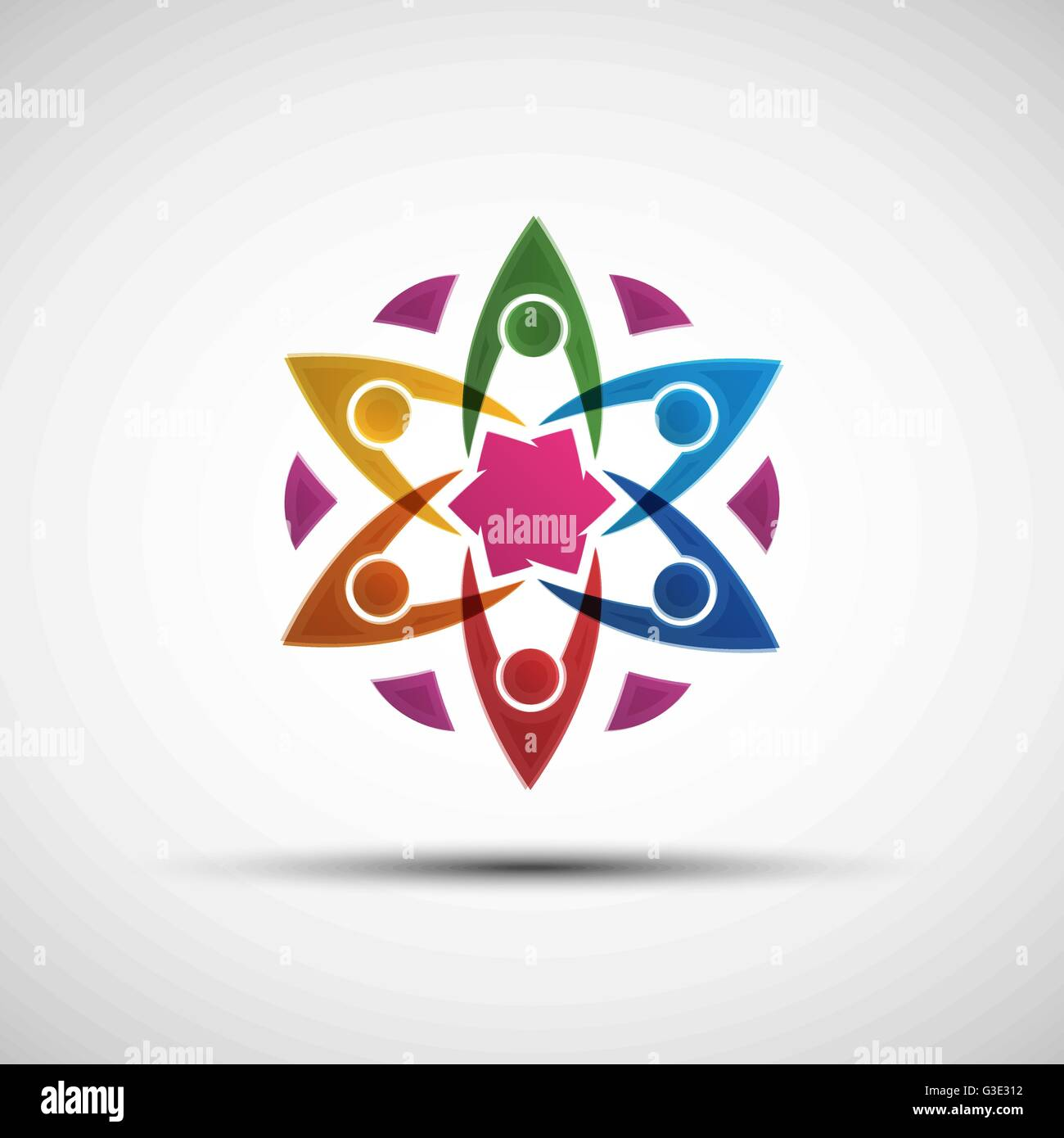 Vector illustration of abstract colorful community teamwork vector illustration of abstract colorful community teamwork happy children learning friends or big family logo template sciox Images