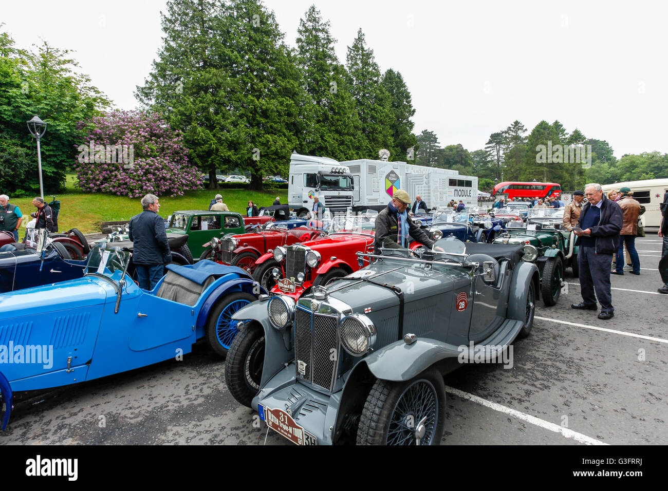 Holywood, Northern Ireland, UK, 11th June 2016. MG Car Clubs ...
