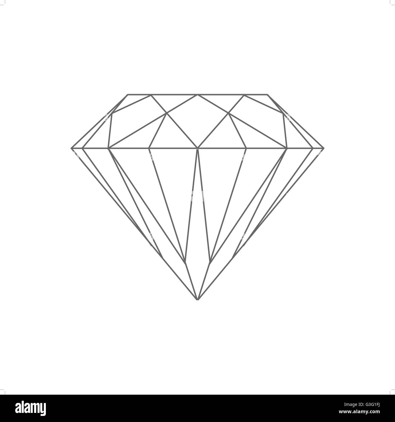 Line Art Diamond : Beautiful line drawing diamond vector illustration