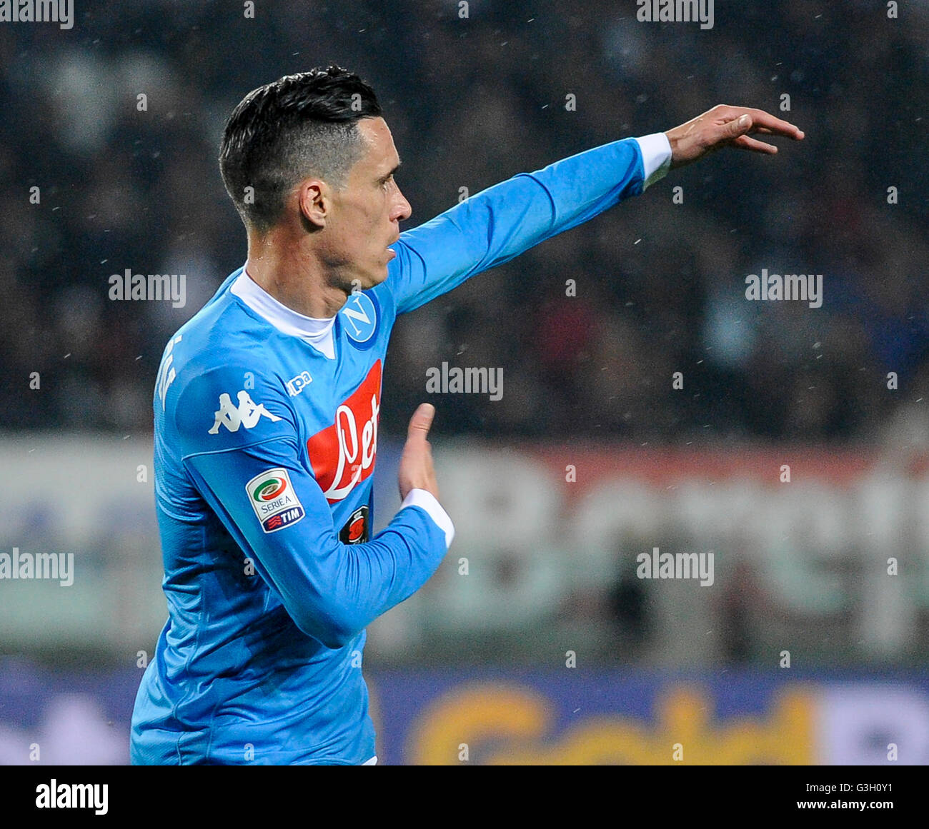 Turin Italy 08th May 2016 Jose Maria Callejon celebrates after