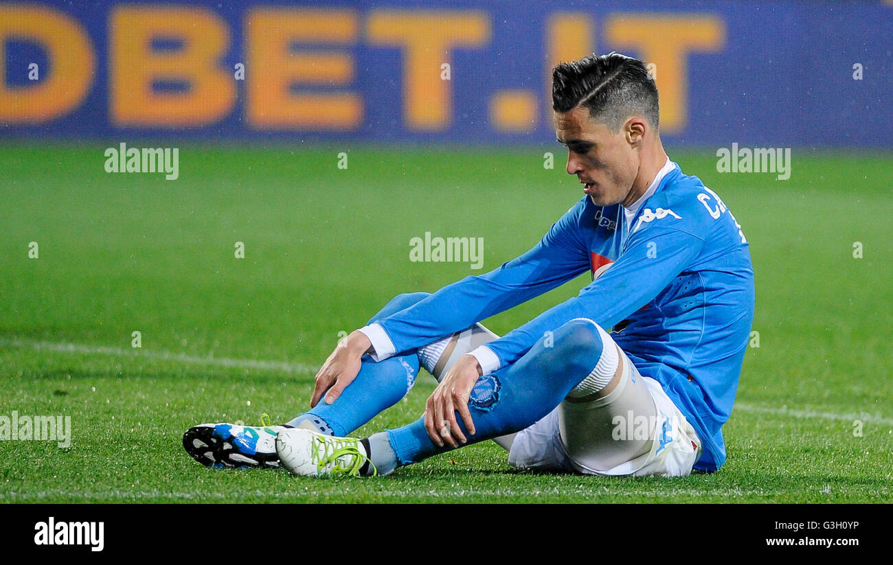 Turin Italy 08th May 2016 Jose Maria Callejon is disappointed