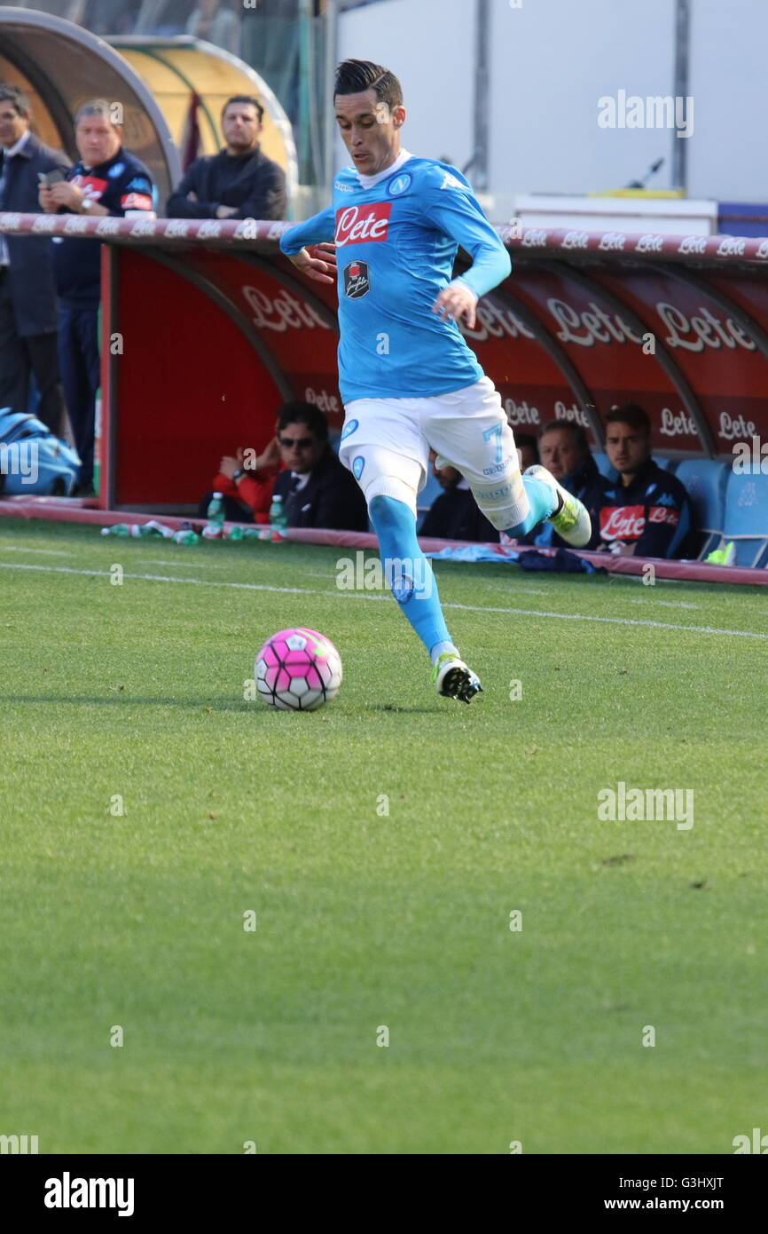 José Mar­a Callej³n SSC Napoli during soccer match between SSC
