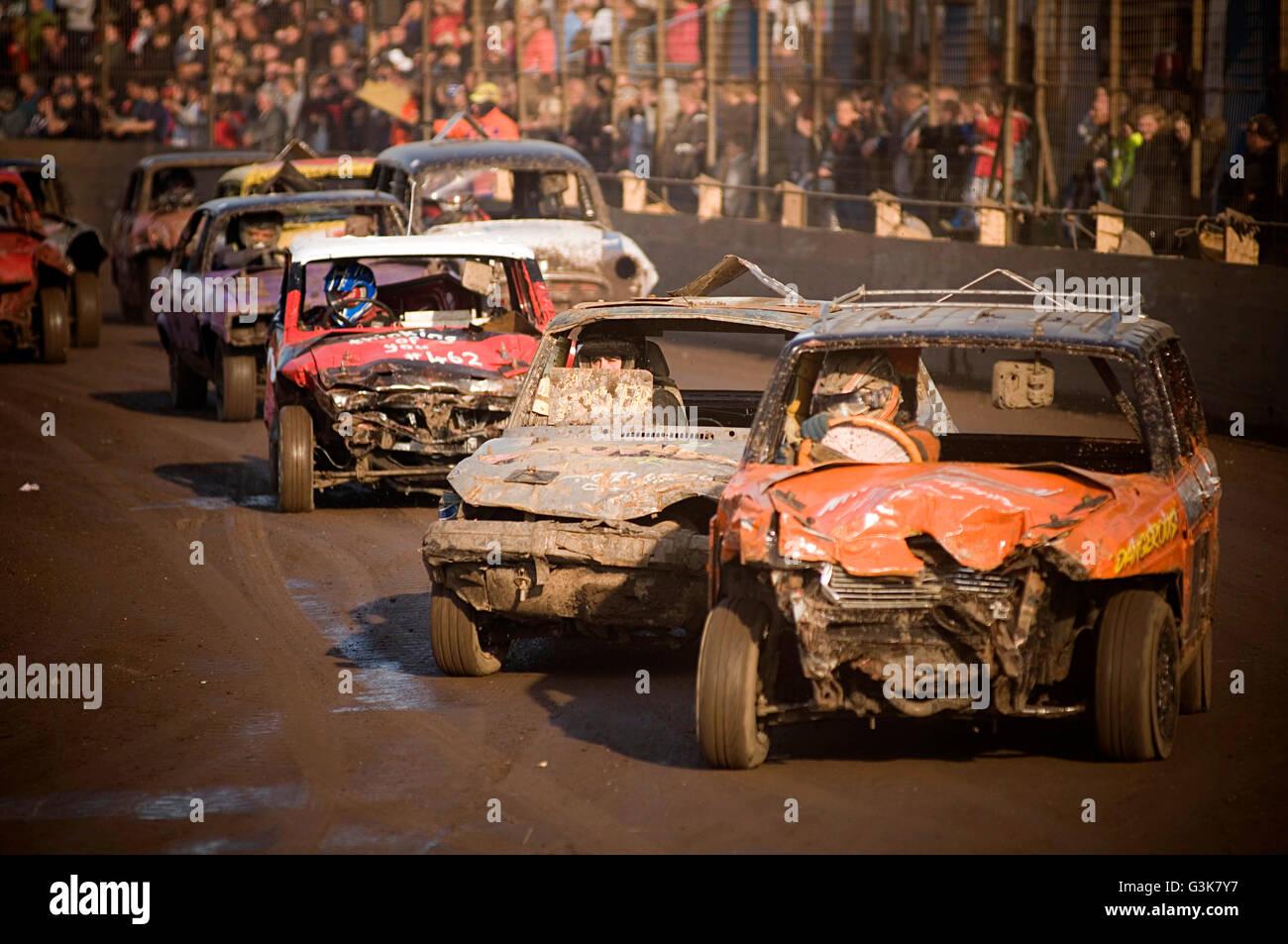 banger racing stock car cars race races old junk scrap old motor ...