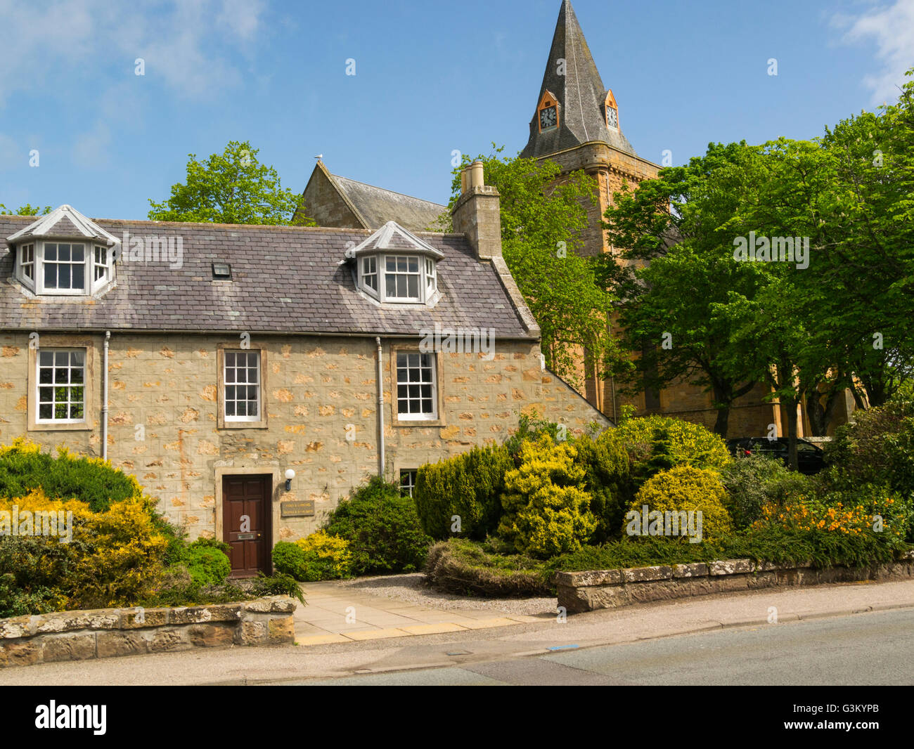 Lovely Stone Cottage In Front Of Dornoch Cathedral Sutherland Scottish Highlands A Former Royal Burgh Historic Town And Seaside Resort