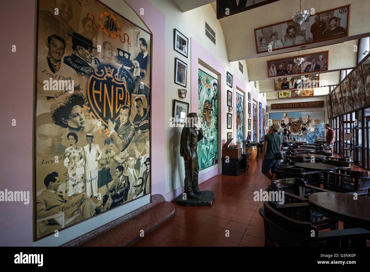 Murals in a bar hotel nacional de cuba historic luxury hotel havana cuba