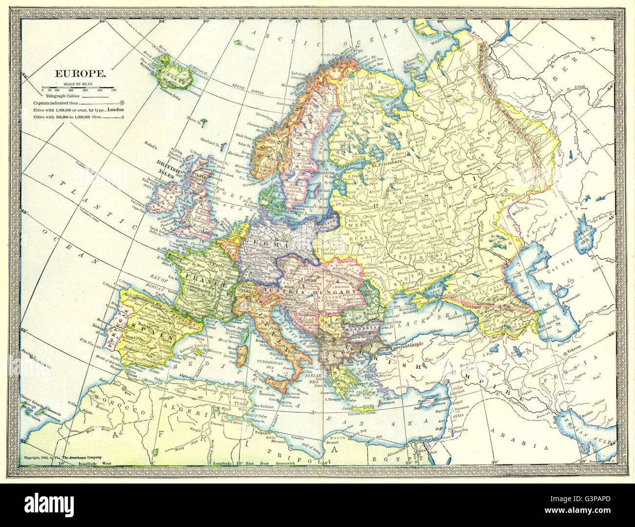 Europe Political Austriahungary Turkey In Europe 1907 Antique – Turkey on a Map of Europe