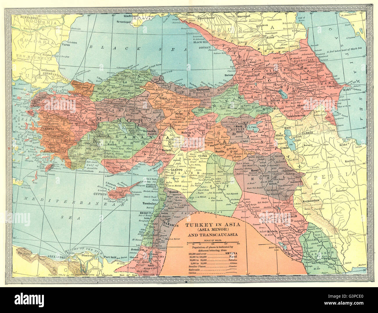 TURKEY IN ASIA Transcaucasia Levant Georgia Syria Iraq Azerbaijan - Georgia map asia