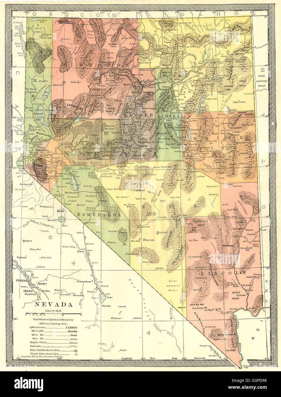 Nevada State Map Where Does The Series Number On A Map Appear - Nevada state map