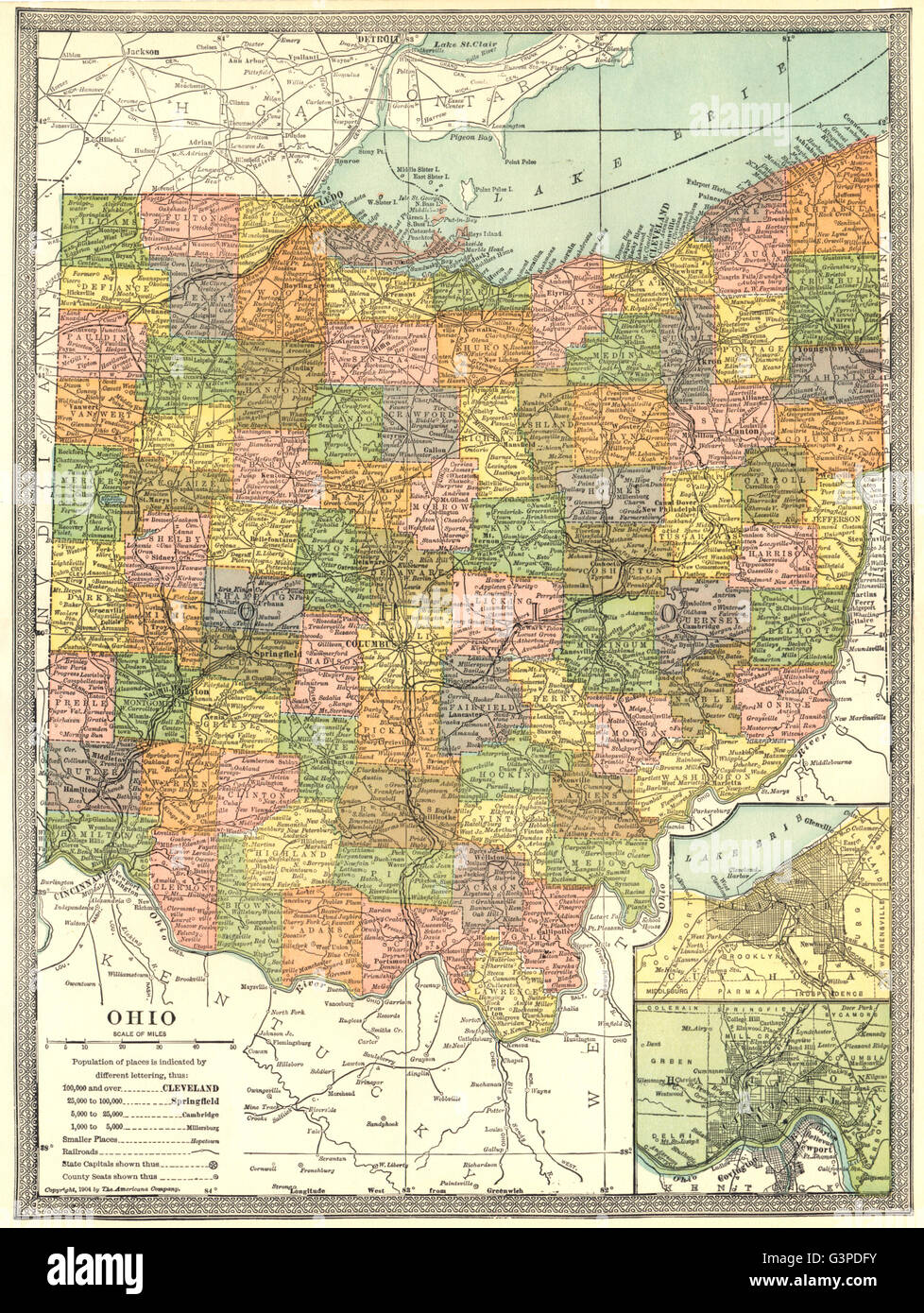 Ohio Map With Counties Land O Lakes Florida Map - Ohio map counties