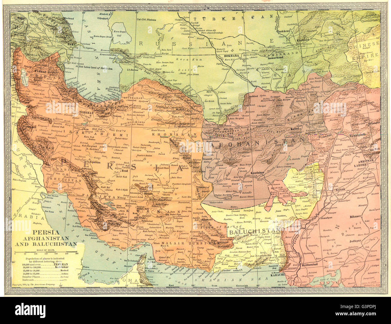 Southwest Asia Persia Afghanistan And Baluchistan Pakistan Iran – Afghanistan Iran Map