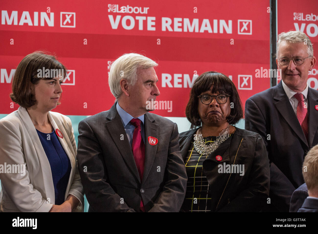 London, UK. 14th June, 2016. Labour Shadow Cabinet members Lucy ...