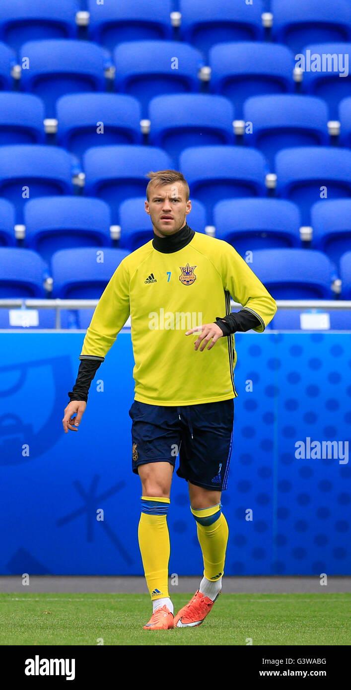 Ukraine s Andriy Yarmolenko during the training session at the