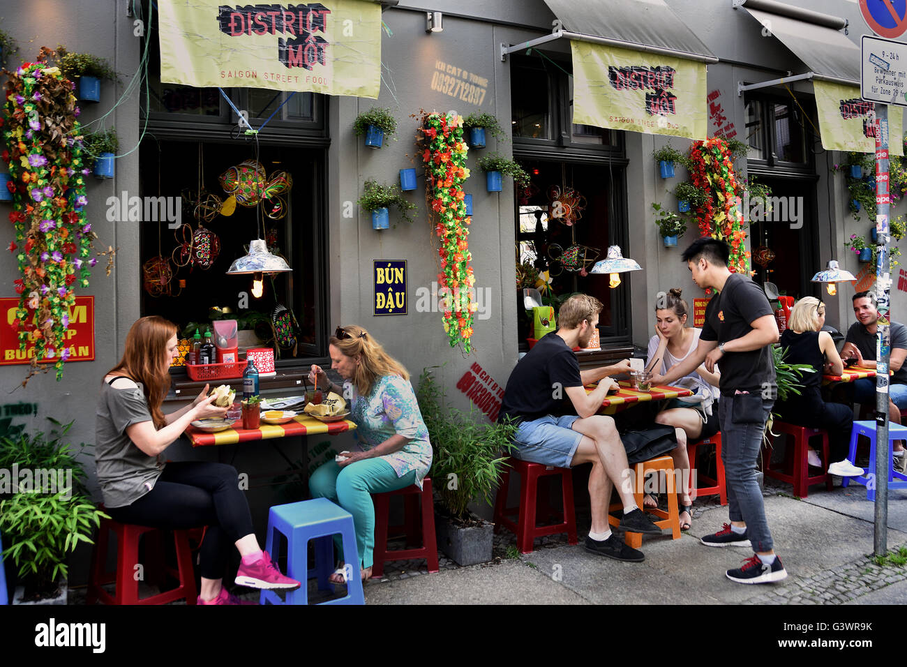 Stock Photo - District Môt - Saigon Street Food Vietnamese Restaurant Mitte, Rosenthaler Strasse Berlin Germany