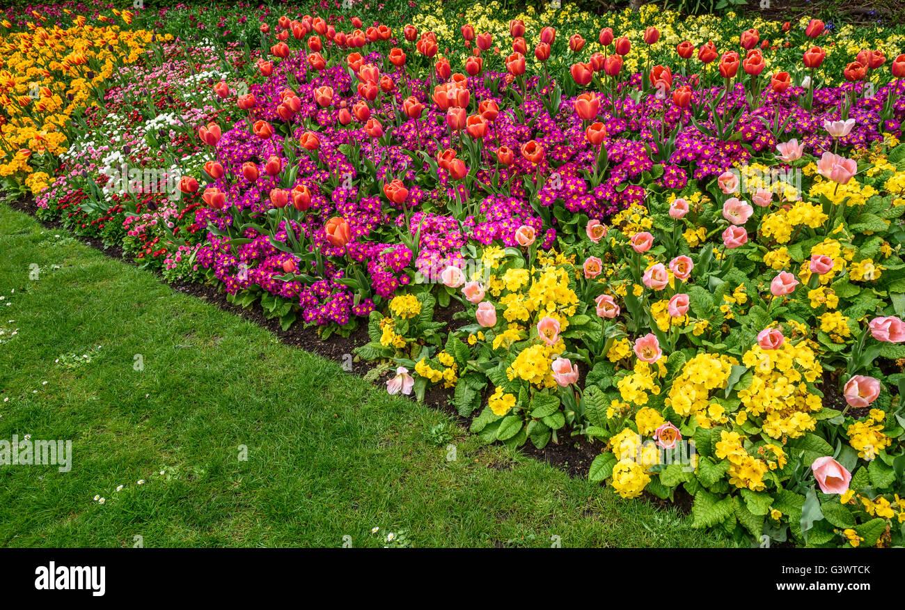 Formal Garden Border Stock Photos Formal Garden Border Stock