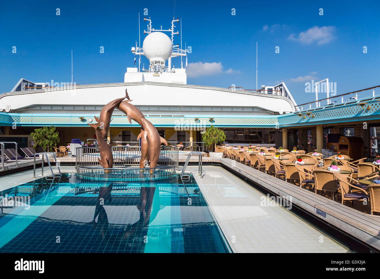 The Open Air Pool Deck On The Holland America Cruise Ship Zaandam - Zaandam ship