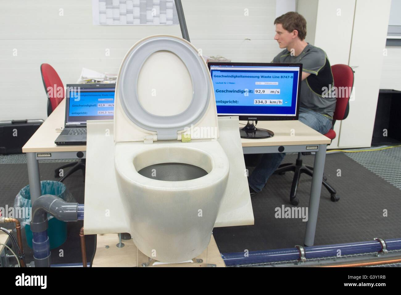 Dresden, Germany. 16th June, 2016. Test engineer Richard Wuerfel ...