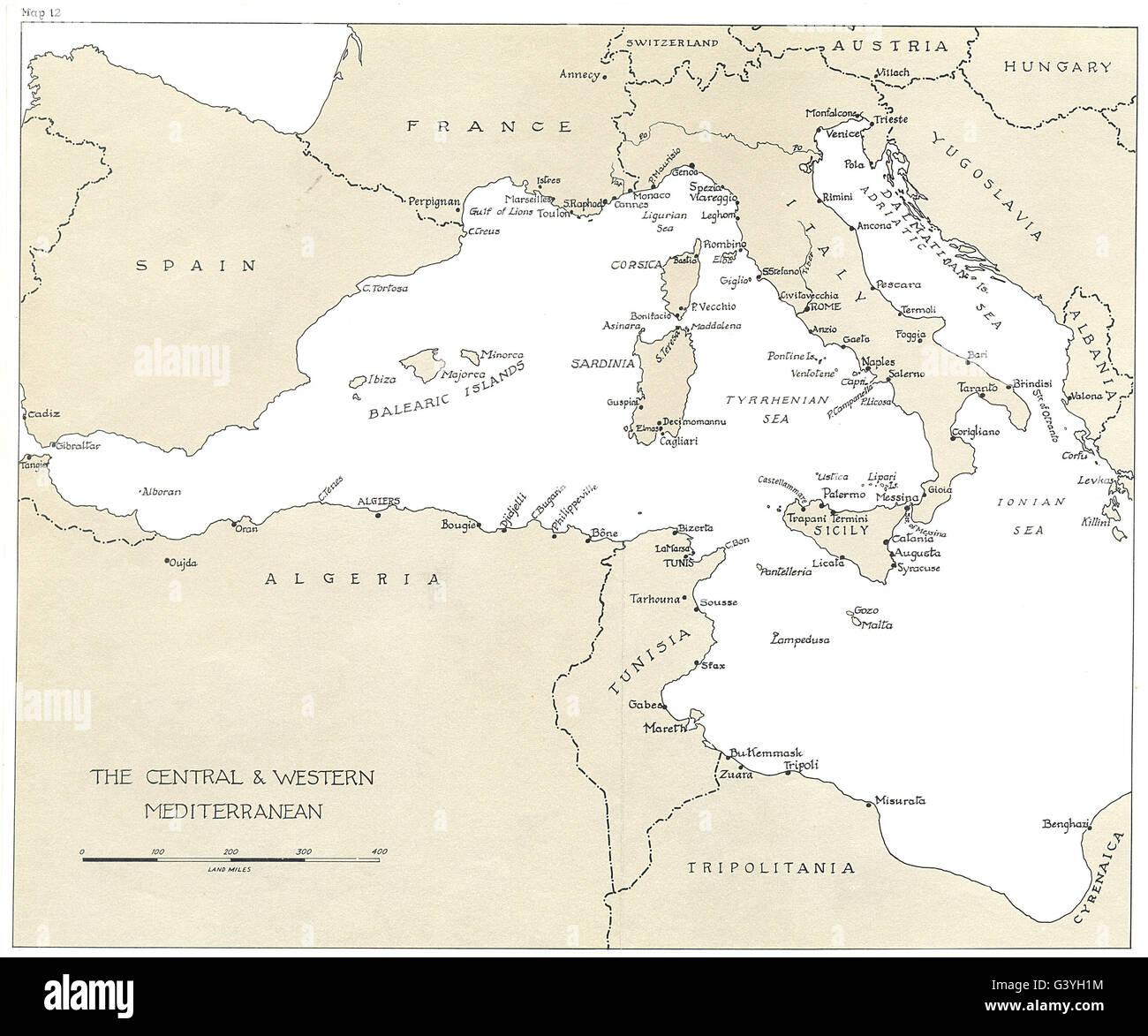 Eu Breaking Of Rome Berlin Axis Central Western Mediterranean 1973 Map