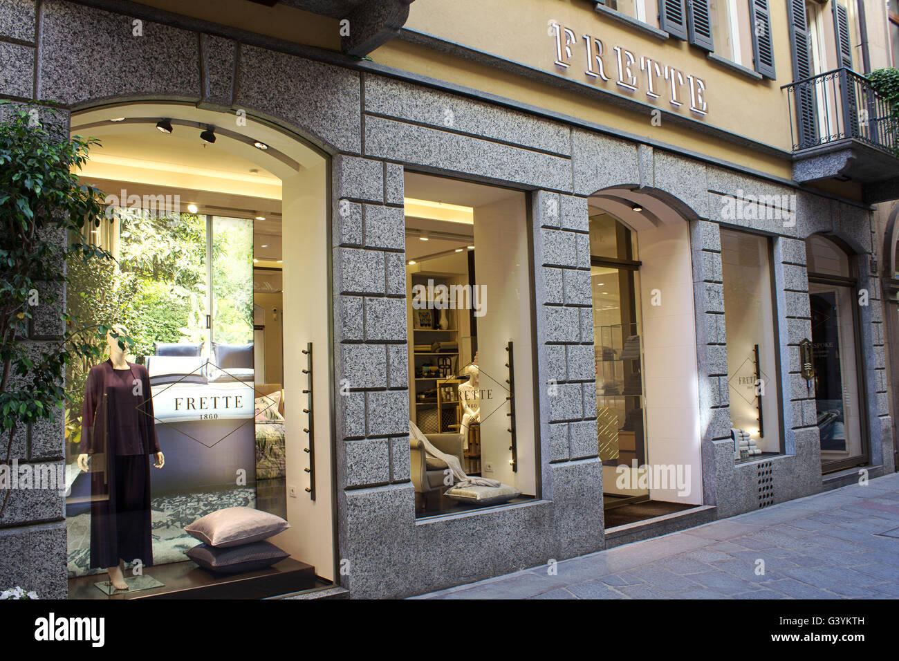 Frette high fashion and home design shopping windows in for Fashion designer milano